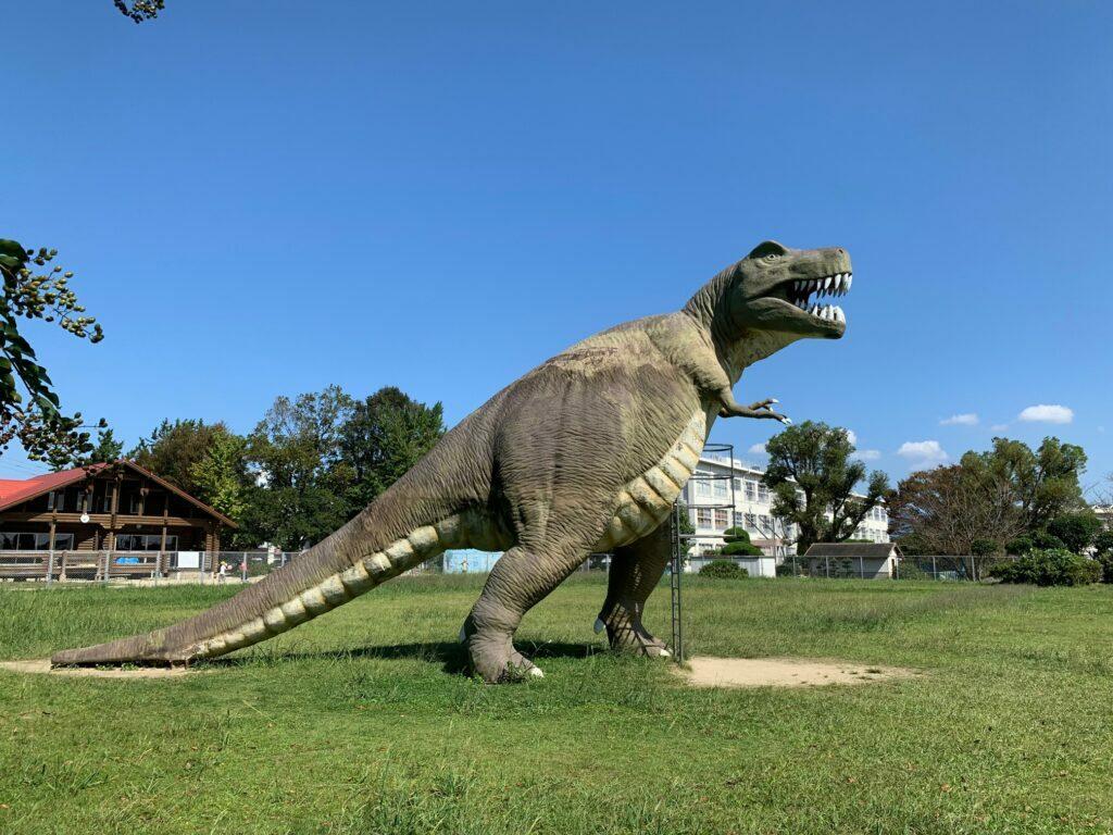 公園 恐竜
